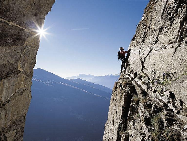 Klettersteig Schweiz : Der klettersteig u2013 ein sportliches erlebnis bergsteigen.com
