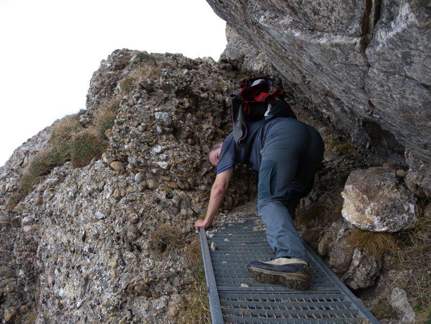 Klettersteig Speer : Speer kletterweg bergsteigen