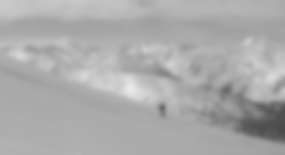 Vor dem Gipfel erreicht man links den flachen Kamm.