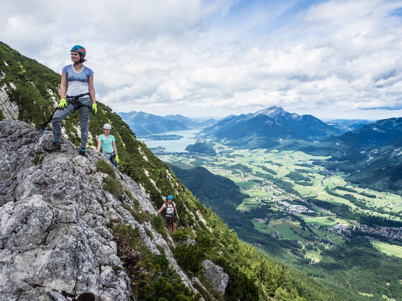 Klettersteig Katrin : Katrin klettersteig bergsteigen