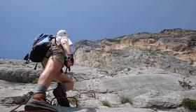 Klettersteig Che Guevara : Monte albano che guevara gardasee lisa unterwegs