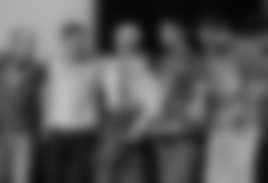 v.l.n.r.: Sandy Allan (Nanga Parbat); Sebastien Bohin (Kamet); Rick Allen (Nanga Parbat); Yasuhiro Hanatani (Kyashar) und Tatsuya Aoki (Kyashar) © Lanzeni / Piolets d'Or