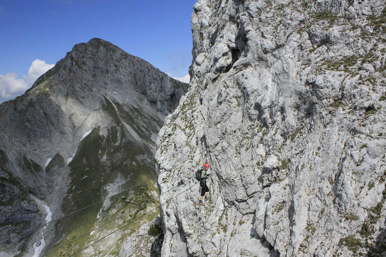 Klettersteig Rakousko : Kaiserschild klettersteig bergsteigen
