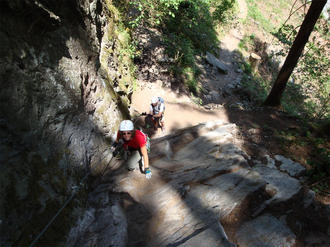 Klettersteig Huterlaner : Huterlaner klettersteig bergsteigen