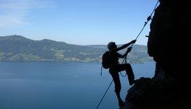 Klettersteig Attersee : Attersee klettersteig bergsteigen