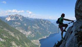 Klettersteig Zauchensee : Seewand klettersteig bergsteigen