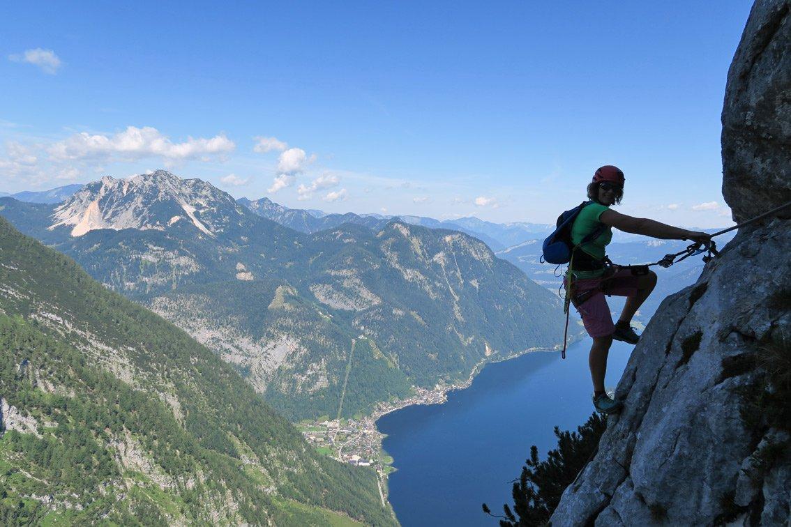 Klettersteig Hallstatt : Seewand klettersteig bergsteigen