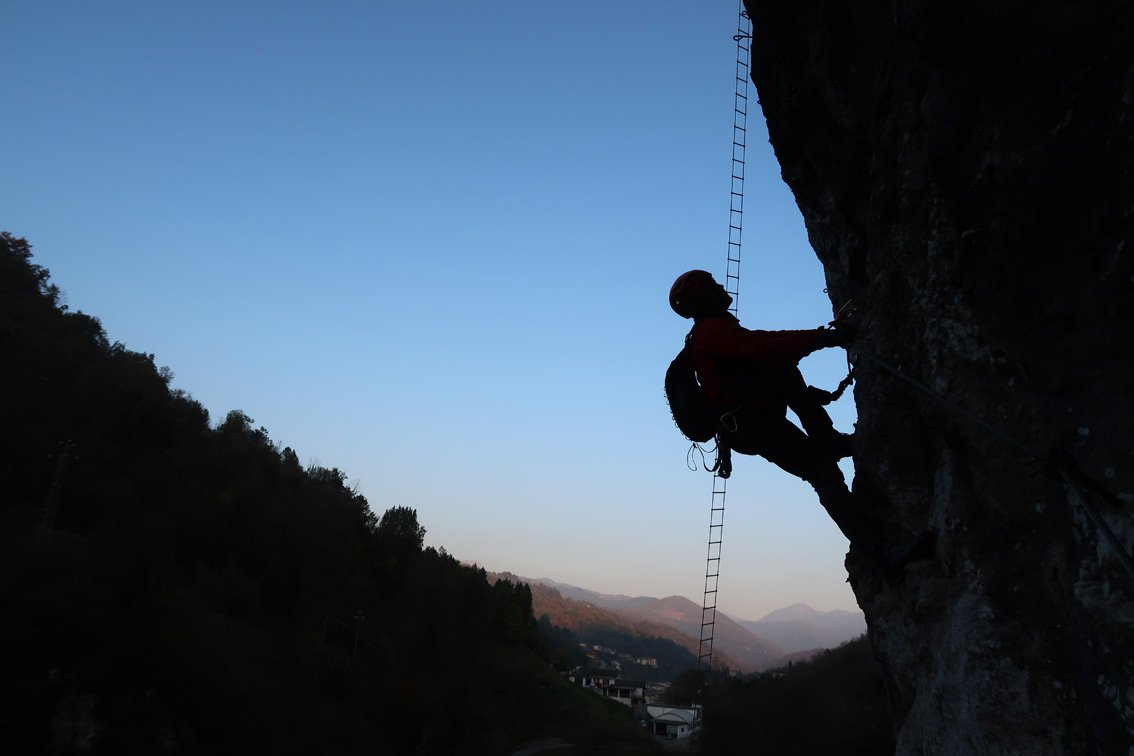 Klettersteigset Verleih Salzburg : Ferrata casto klettersteig park bergsteigen.com