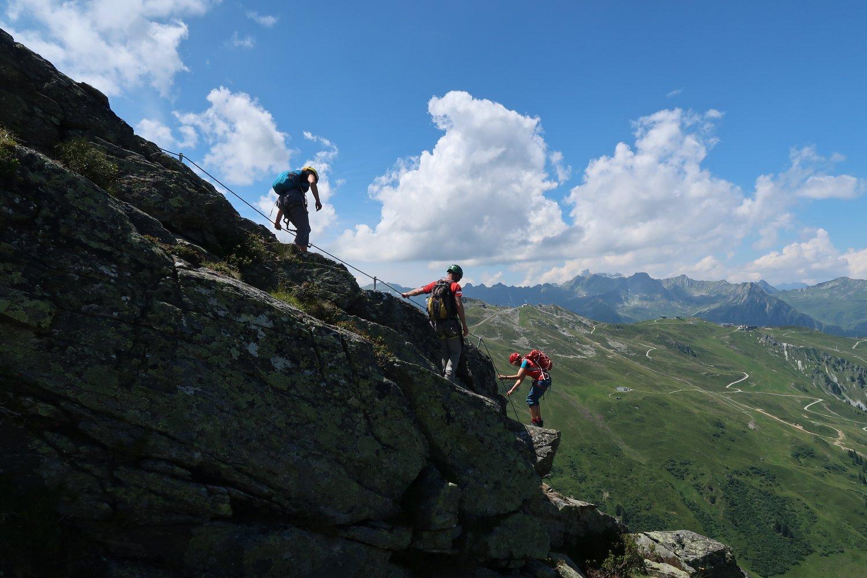 Klettersteig Burg : Burg klettersteig bergsteigen
