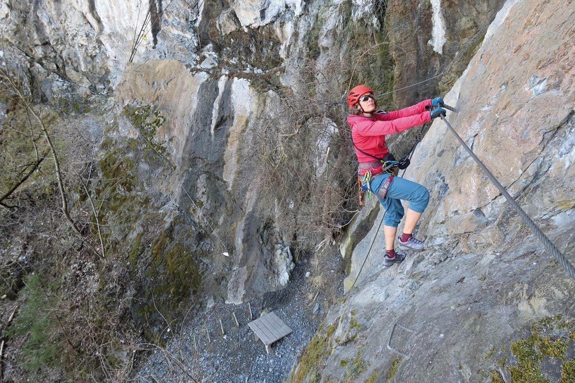Klettersteig Pitztal : Steinwand klettersteig bergsteigen.com