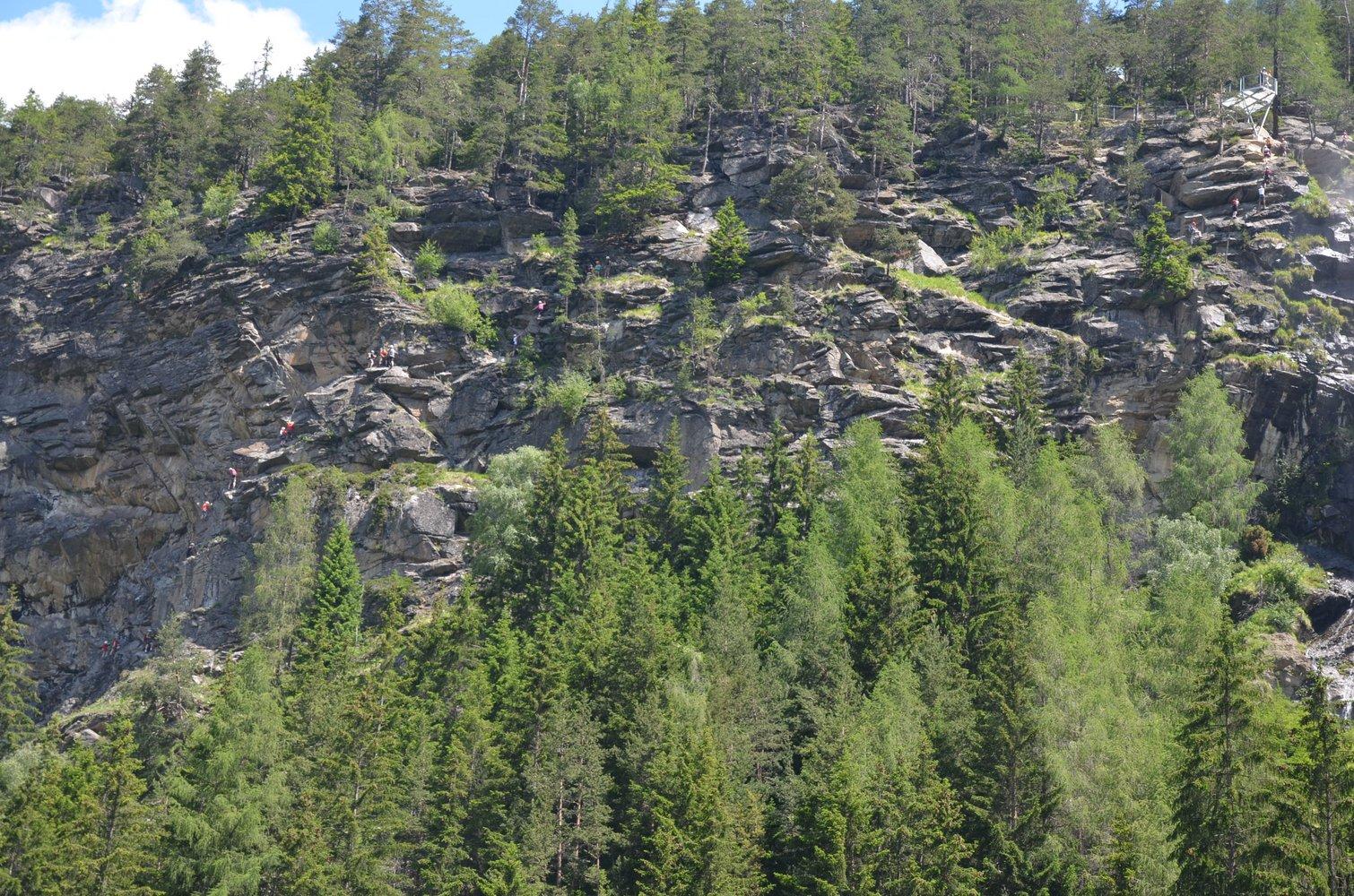 Klettersteig Umhausen : Klettersteig stuibenfall Ötztal bergsteigen