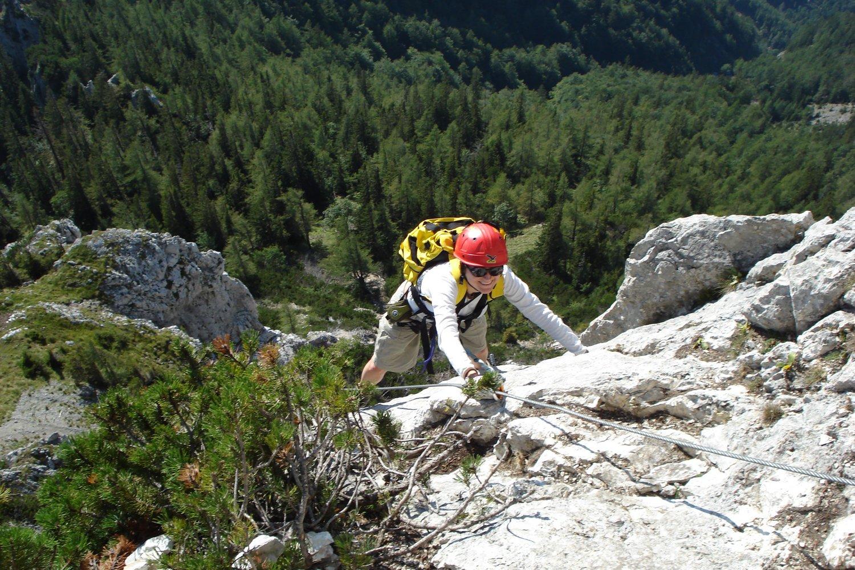 Klettersteig Leopoldsteinersee : Eisenerzer steig klettersteig bergsteigen