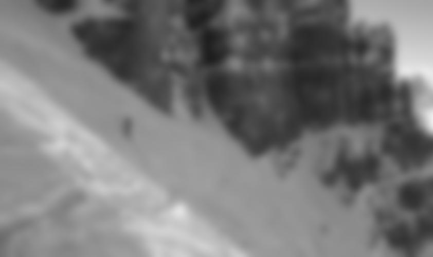 Tolles Dolomiten-Feeling in der Rinne.