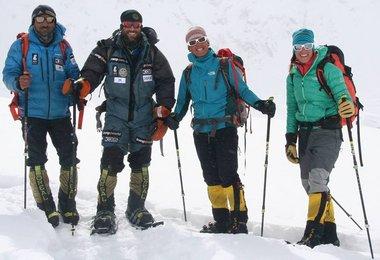 Ali Sadpara, Alex Txikon, Tamara Lunger und Simone Moro (c) Alex Txikon