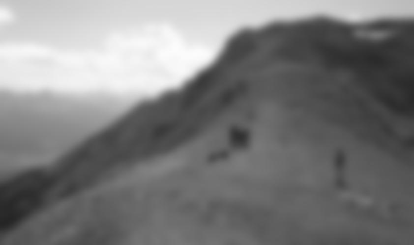 """Der """"Lange Sattel"""", dort ist das Ende von Teil 1 - Abstieg zur Seegrube möglich."""