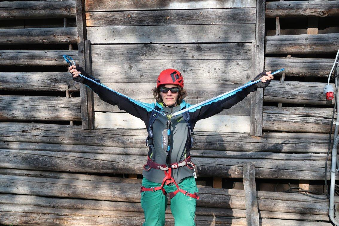 Klettersteigset Camp Test : Test camp kinetic gyro rewind pro bergsteigen