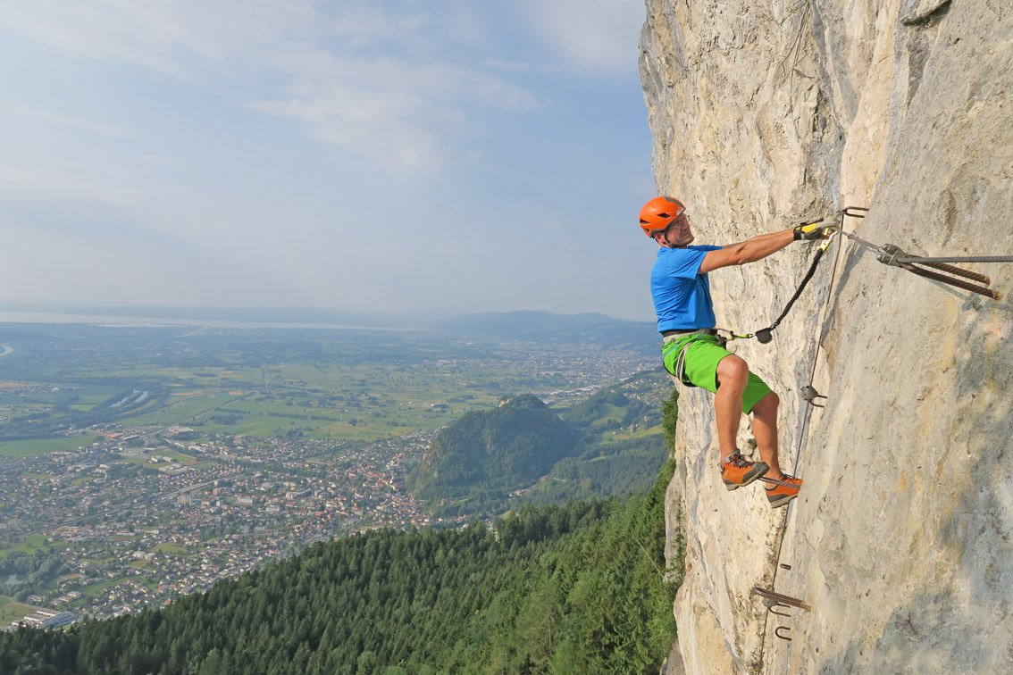 Klettersteig Via Kapf : Via kessi klettersteig bergsteigen.com