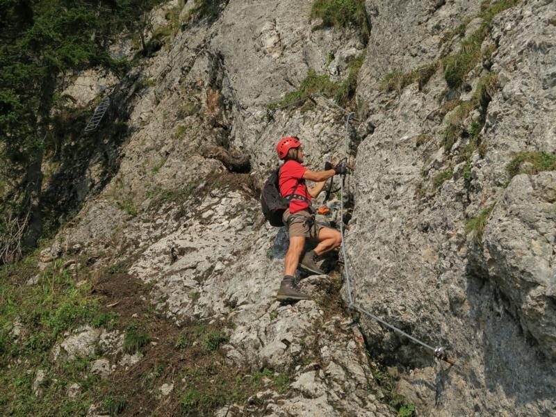 Klettersteig Ybbstaler Alpen : Bergmandl klettersteig bergsteigen