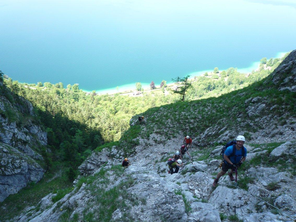 Klettersteig Mahdlgupf : Attersee klettersteig auf den mahdlgupf impressionen