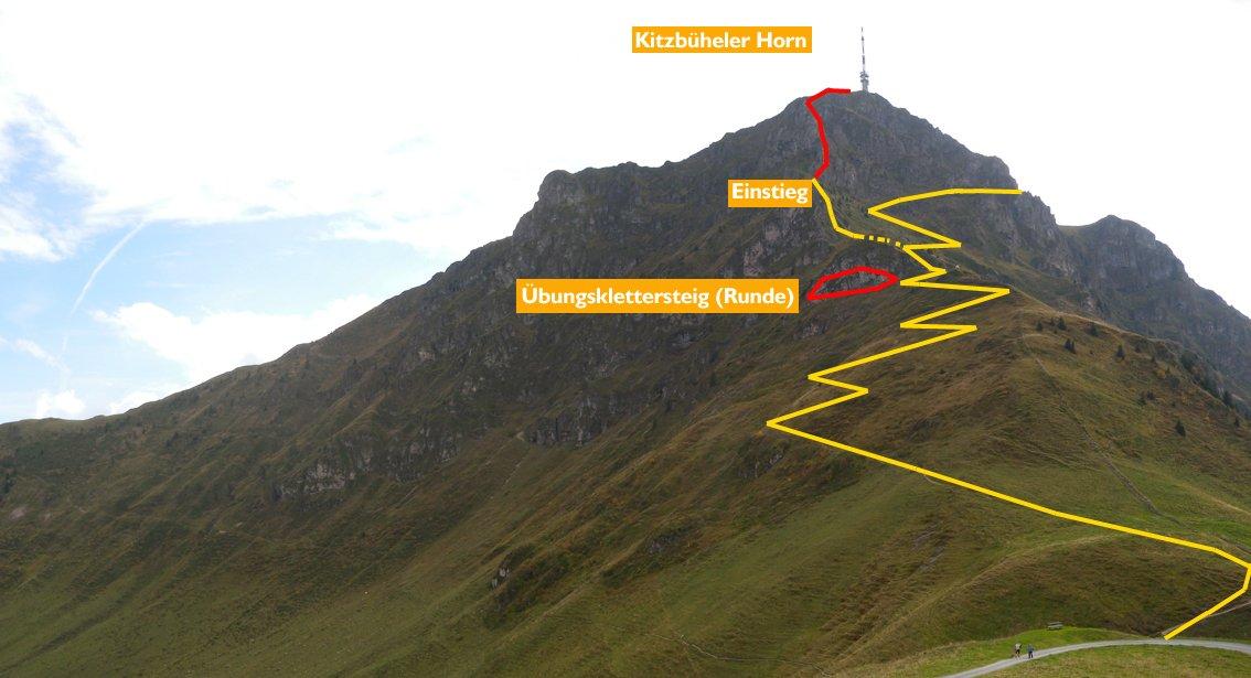 Klettersteig Kitzbühel : Klettersteig kitzbüheler horn bergsteigen