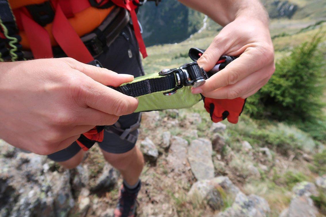 Klettersteigset Drehgelenk : Salewa ergo tex klettersteigset