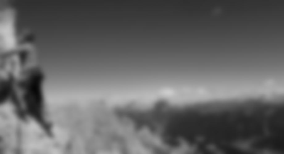 Tolles Dolomiten Panorama in der letzten Seillänge.
