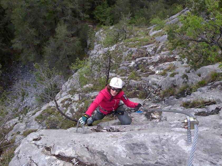 Klettersteig Zams : Klettersteig galugg bergsteigen