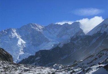 Der Gipfel des Kantsch von Oktang aus; Foto: Nathalie Steinlechner