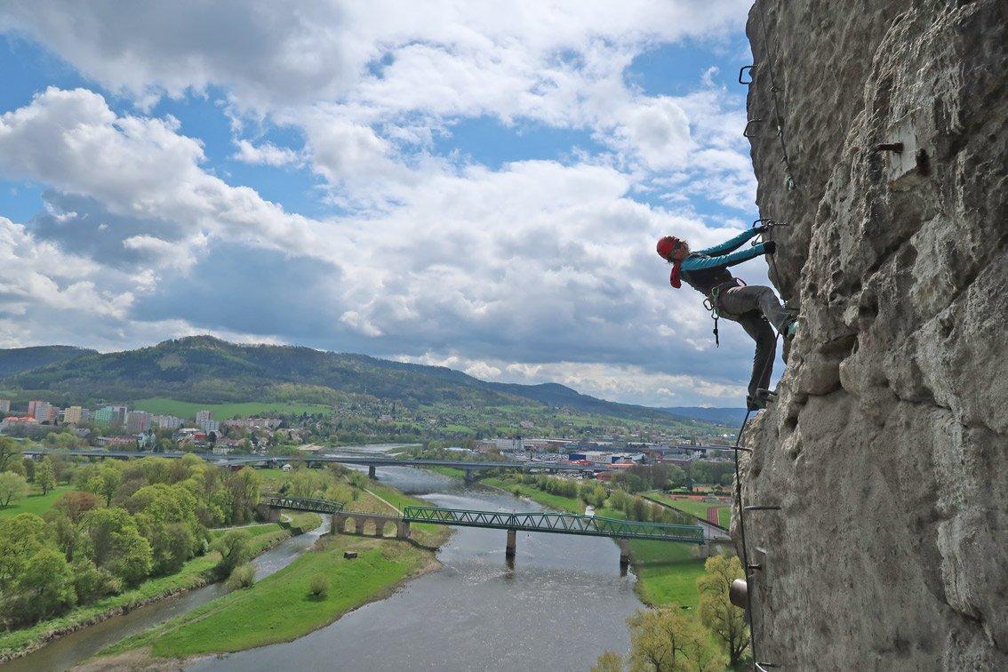 Klettersteig Decin : Ferrata pastyrska stena klettersteige schäferwand bergsteigen