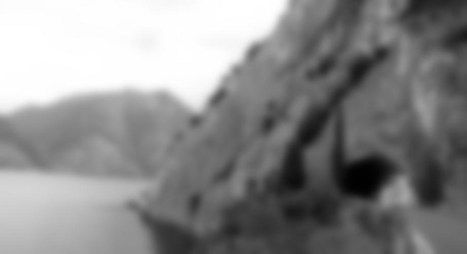 Die Wand der Spiaggia delle Lucertole