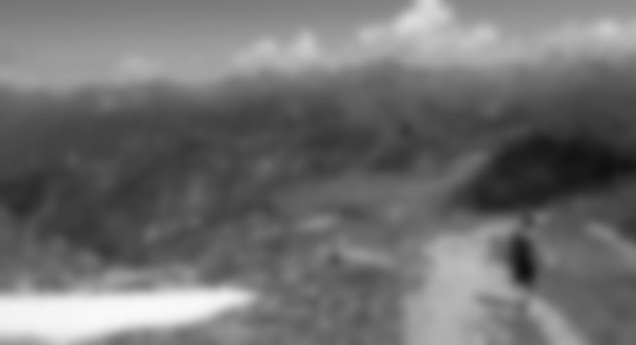 Beim Abstieg zur Bergstation - der linke Felsgrat ist der kurze Burg-Klettersteig