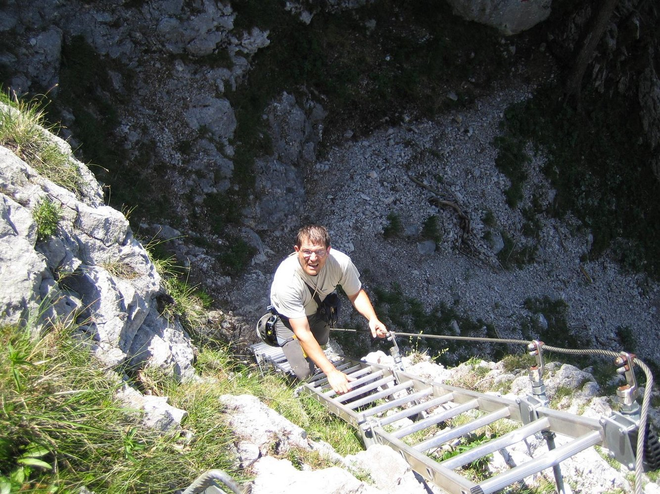 Klettersteig Traunstein : Naturfreundesteig traunstein bergsteigen.com