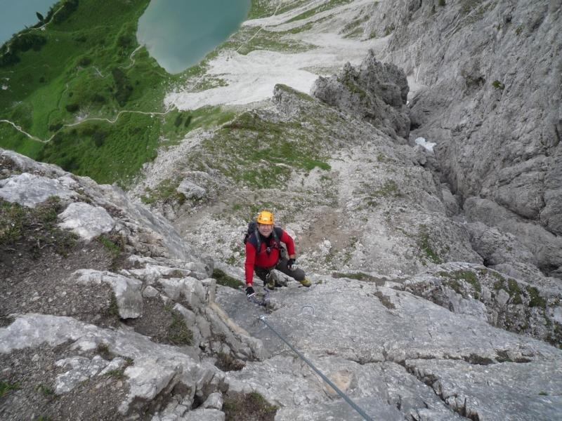 Klettersteig Lachenspitze : Klettersteig lachenspitze nordwand bergsteigen.com