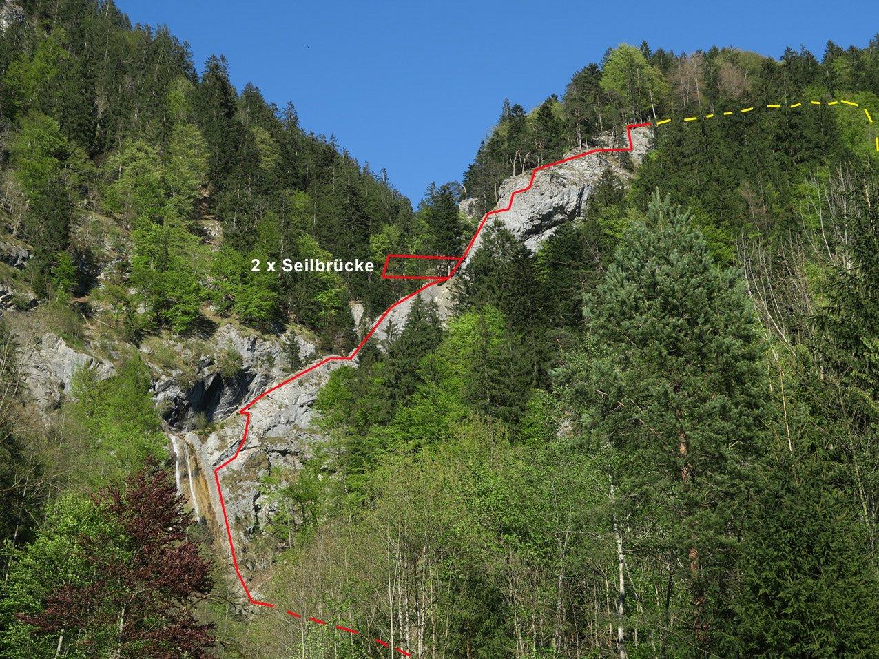 Klettersteig Montafon : Wasserfall klettersteig st anton im montafon bergsteigen