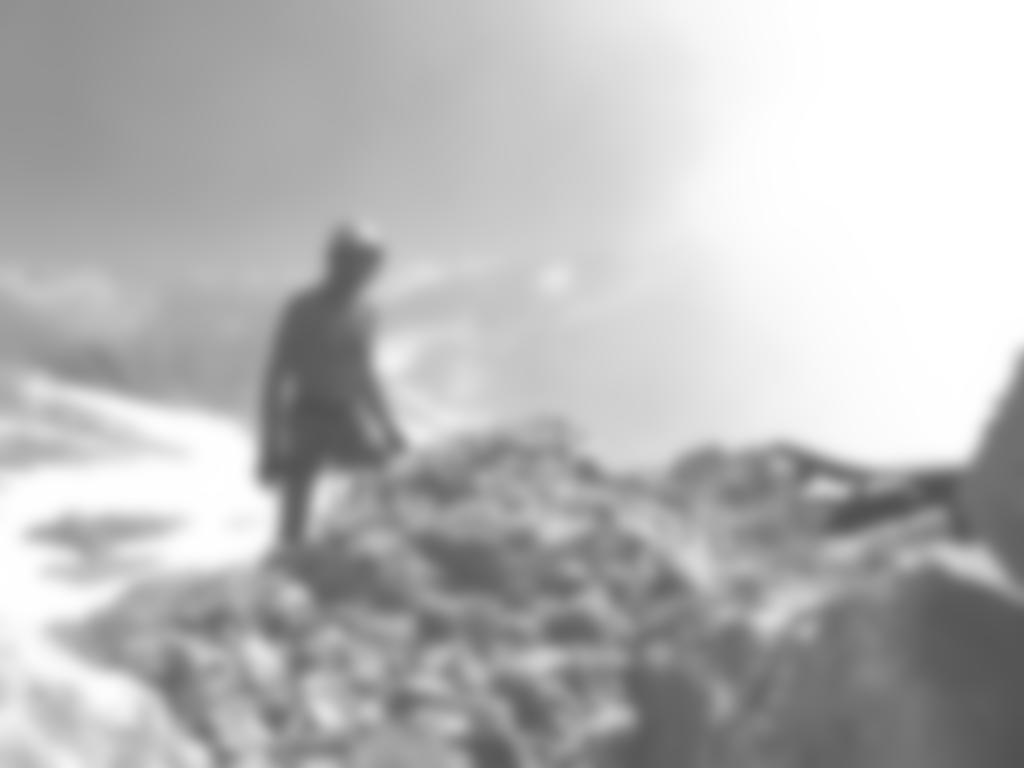am Gipfel eines Traumtages: Barfuß-Begehung (nur Helm und Handschuhe)