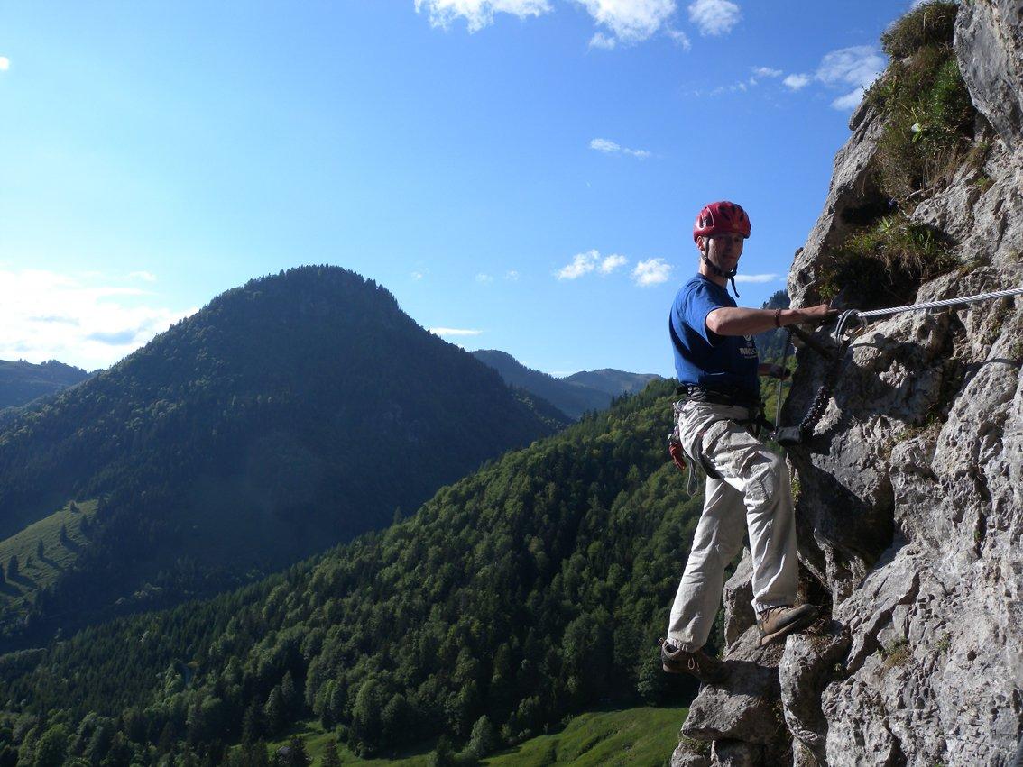 Klettersteig Walchensee : Bergkameraden klettersteig bergsteigen