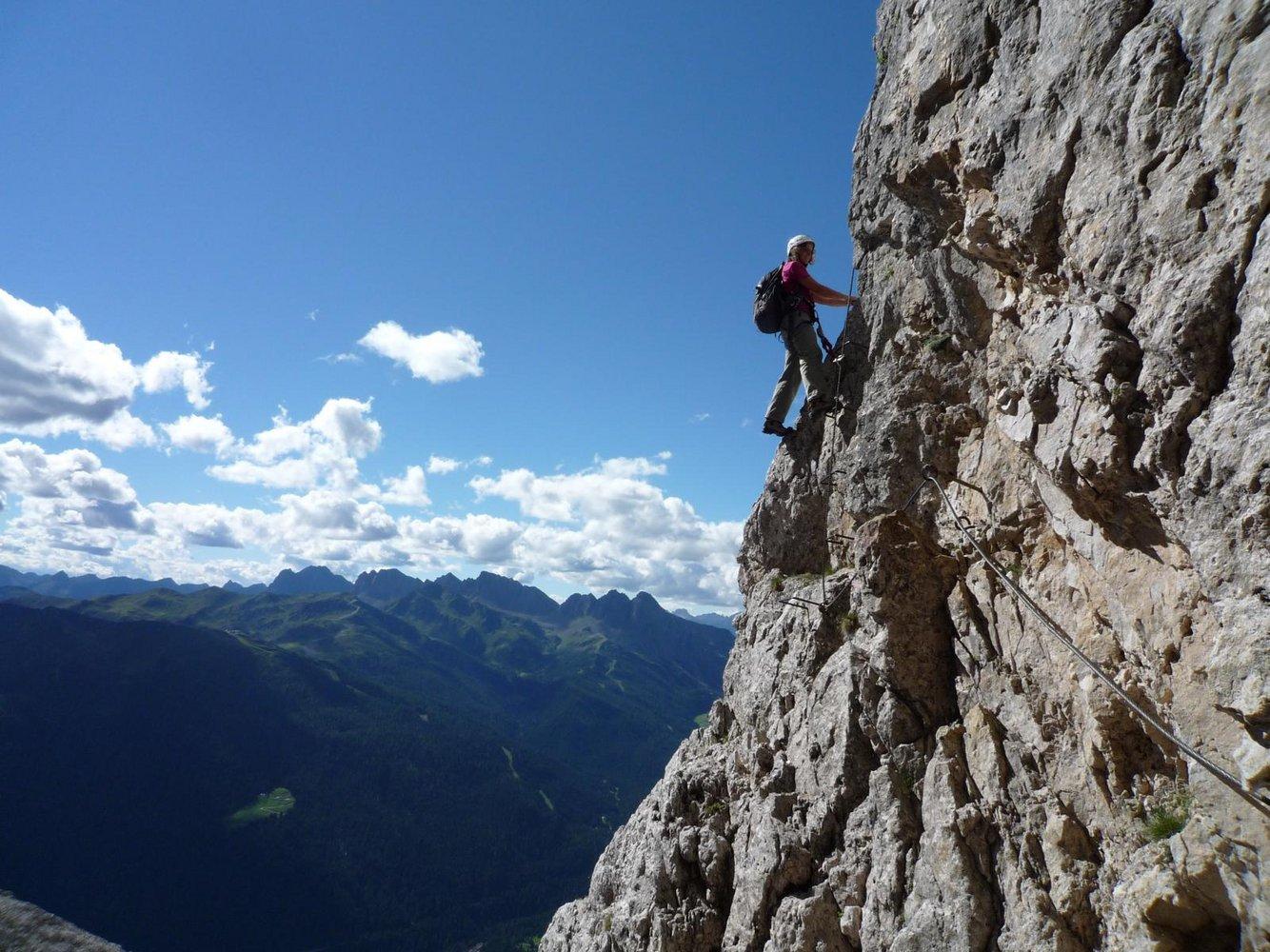 Klettersteig Via Ferrata : Klettersteig in loen via ferrata
