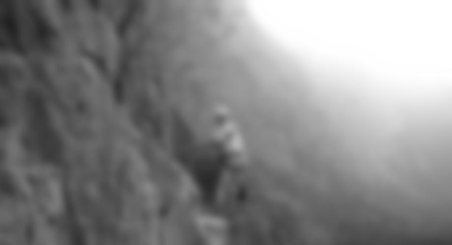 Im Klettersteig.