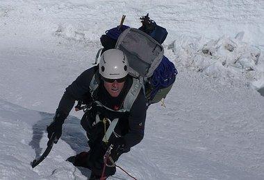 David im unteren Teil der Lhotse-Flanke