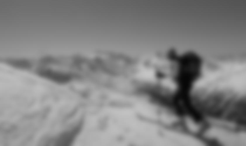 Auf dem Kamm, kurz vor dem Gipfel.