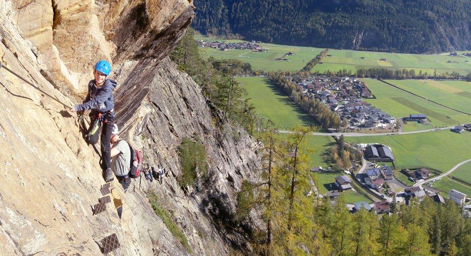 Klettersteig Längenfeld : Schiestl klettersteig in längenfeld alpenverein