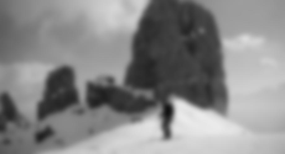 Winterlicher Zustieg mit Ski