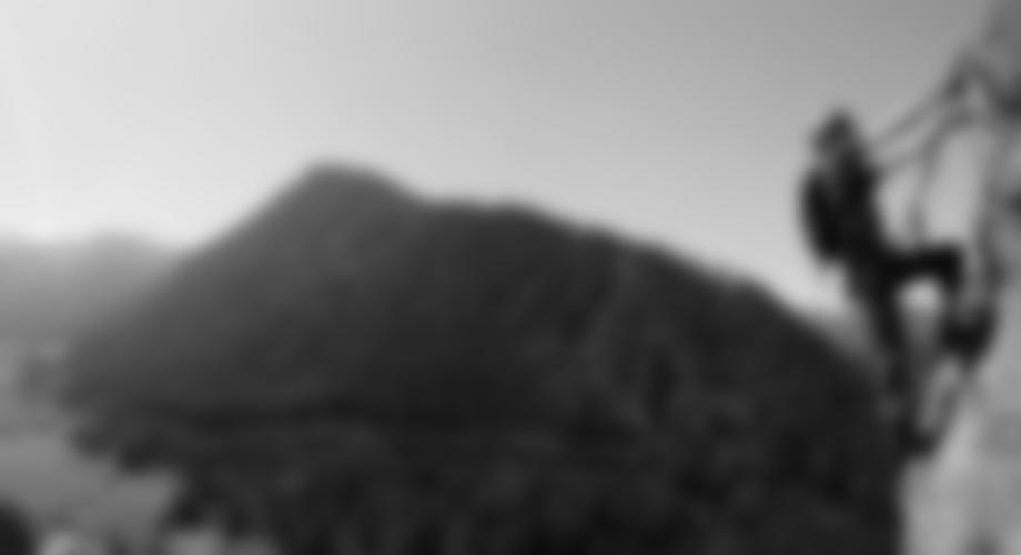 Toller Ausblick vom Klettersteig in die Berge
