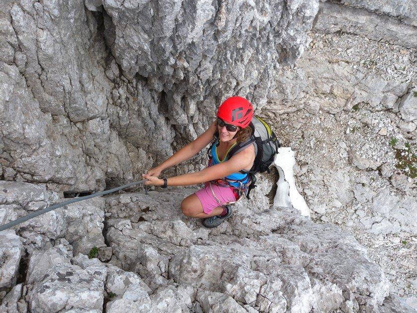 Klettersteigset Hund : Klettersteig nackter hund bergsteigen