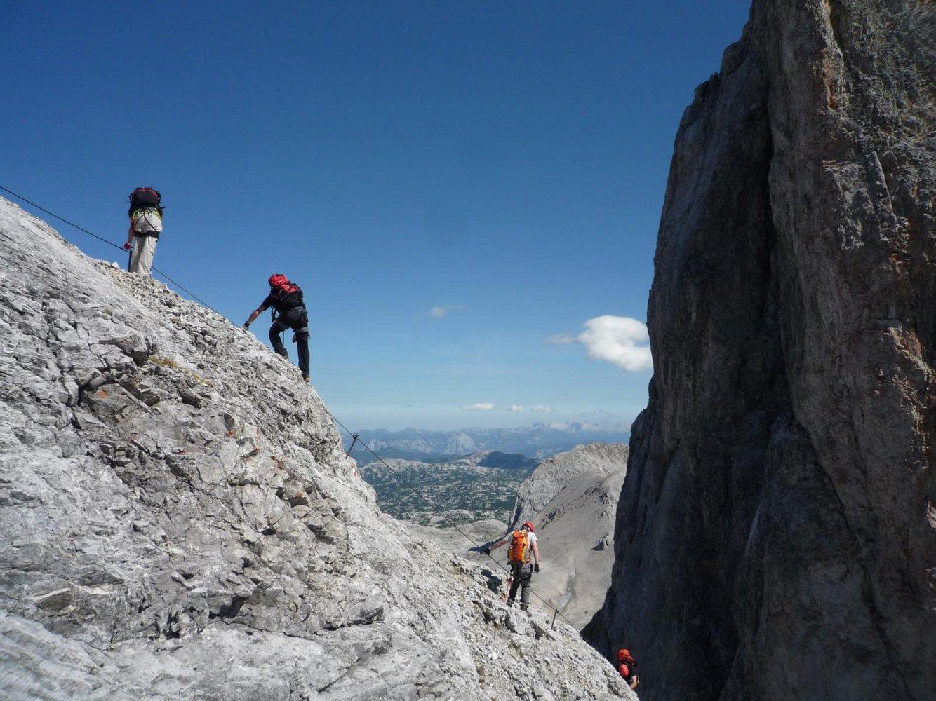 Klettersteig Dachstein : Ramsauer klettersteig bergsteigen