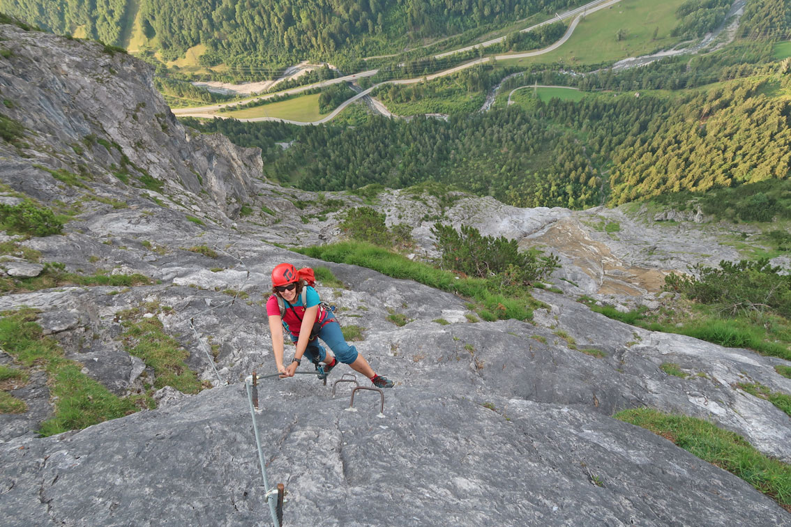 Klettersteig Bavaria : Klostertaler klettersteig am fallbach bergsteigen