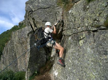 Klettersteigset Montieren : Lukas max klettersteig bergsteigen.com