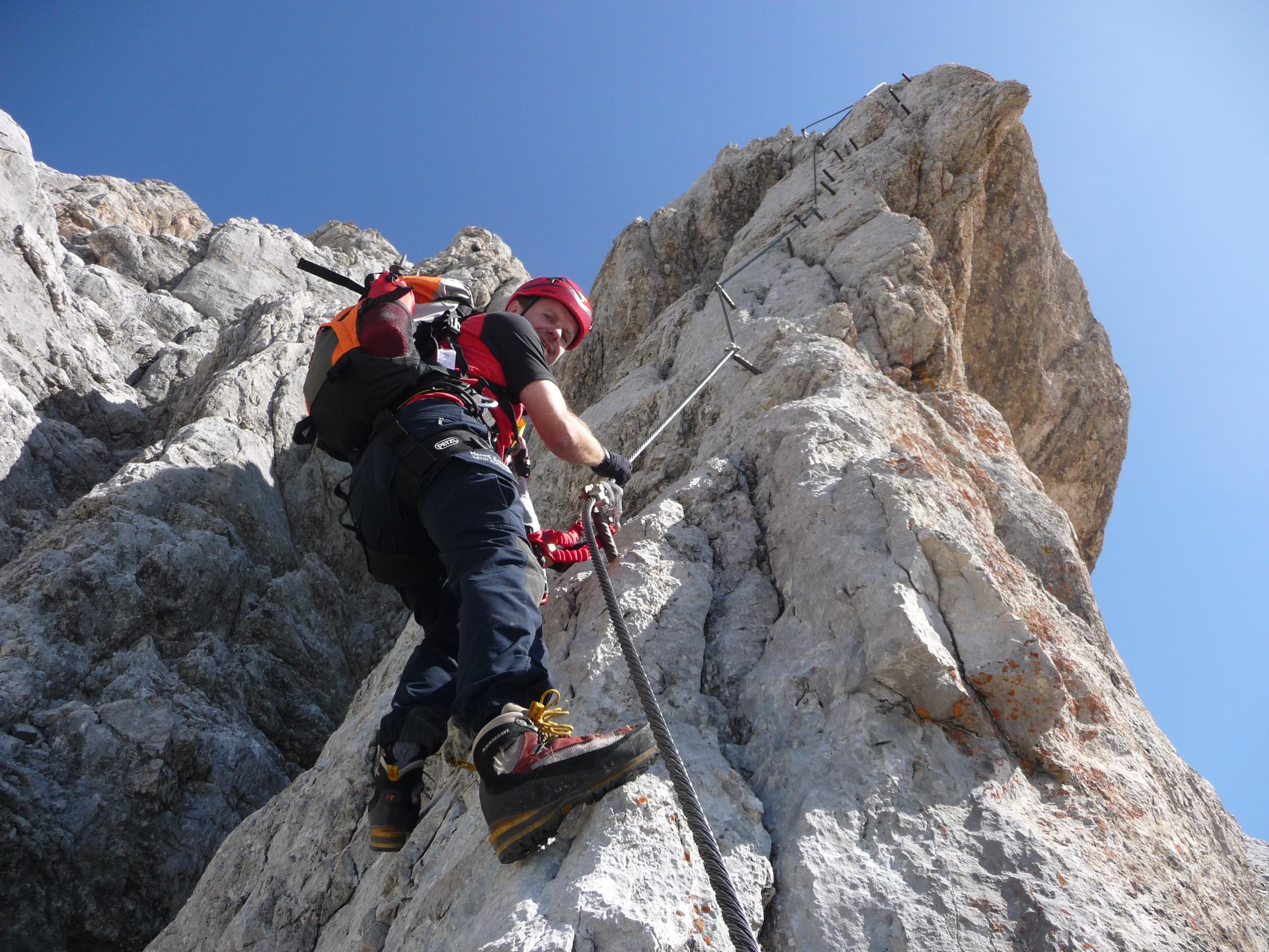 Y Set Klettersteig : Irg klettersteig bergsteigen