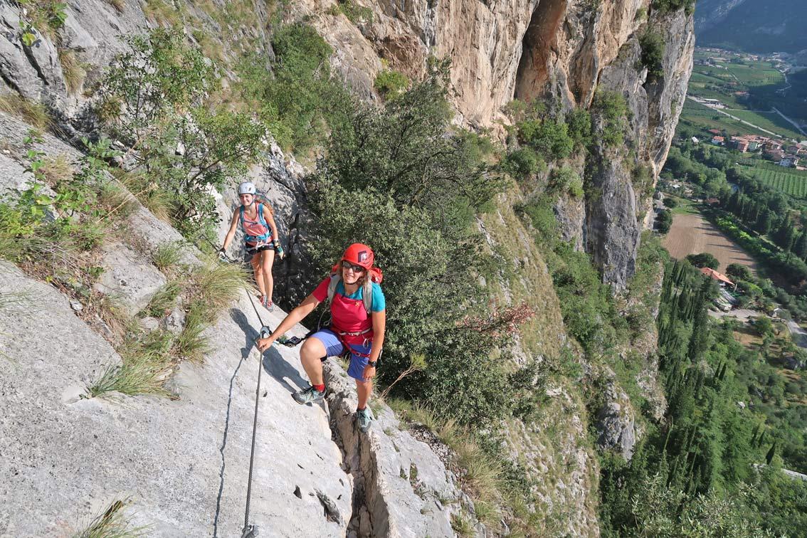 Klettersteig Colodri : Sentiero del colodri klettersteig bergsteigen