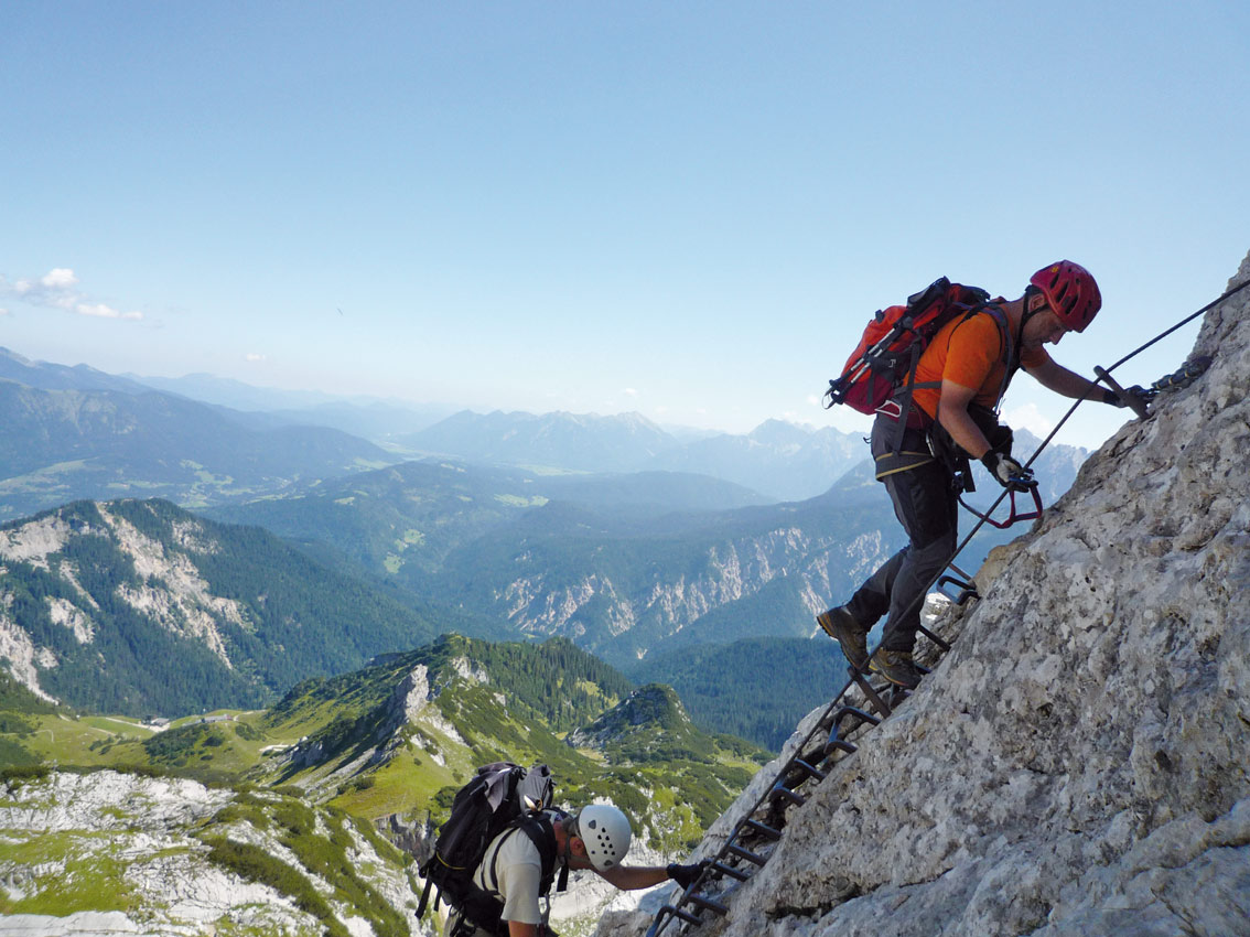 Klettersteig Garmisch : Alpspitz ferrata alpspitze klettersteig bergsteigen